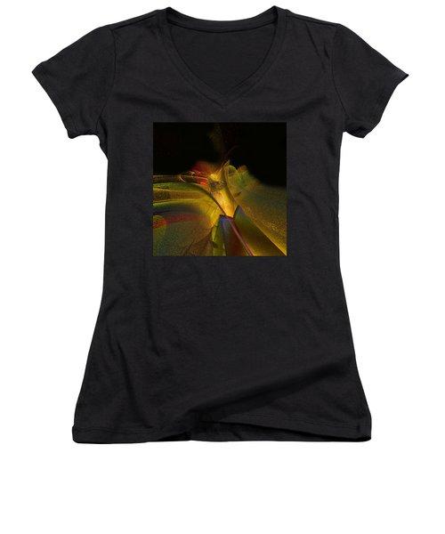 Awakening Women's V-Neck T-Shirt (Junior Cut) by Julie Grace