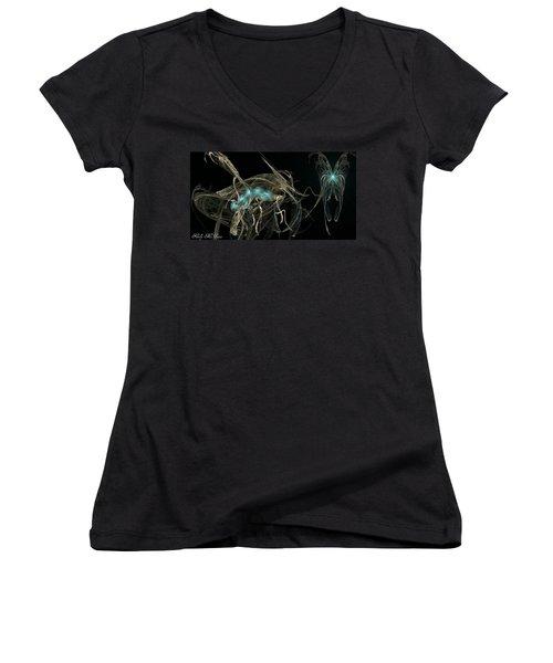 Ballerina Butterfly Women's V-Neck T-Shirt