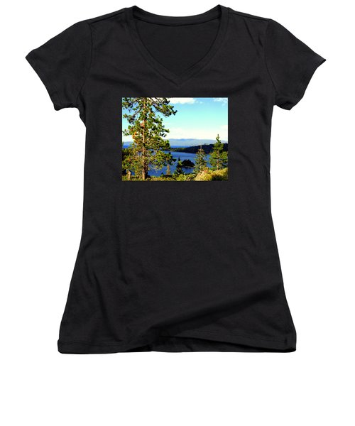 Beautiful Tahoe Women's V-Neck (Athletic Fit)