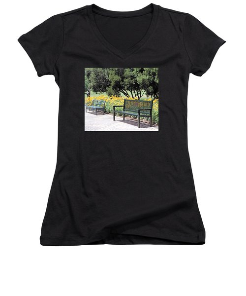 Benches  Women's V-Neck T-Shirt
