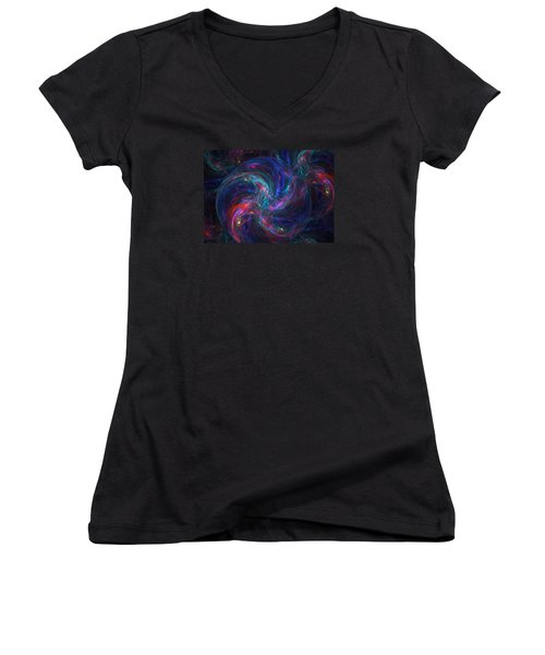 Birth Of A Galaxy Women's V-Neck (Athletic Fit)