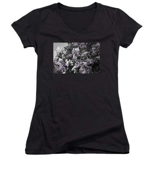 Blooms Women's V-Neck T-Shirt (Junior Cut) by Colleen Coccia
