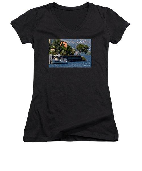 Boat And Tree Women's V-Neck