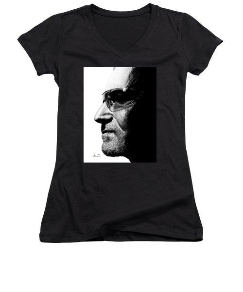 Bono - Half The Man Women's V-Neck (Athletic Fit)