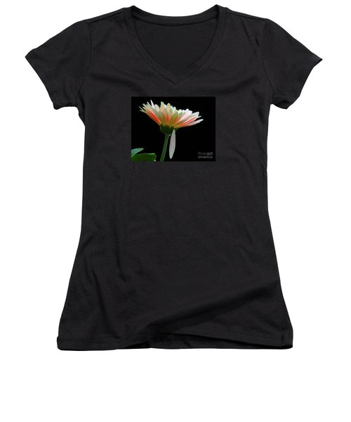Women's V-Neck T-Shirt (Junior Cut) featuring the photograph Broken Daisy by Cindy Manero