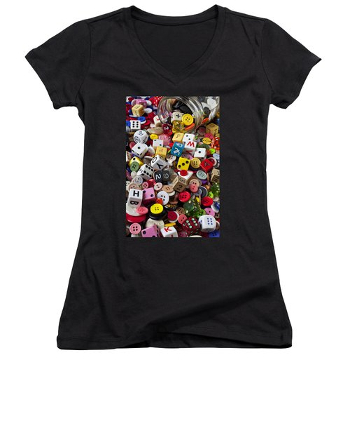 Buttons And Dice Women's V-Neck