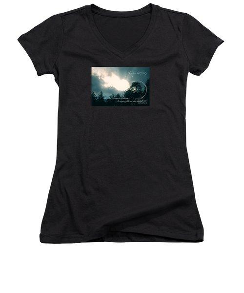 Calm The Storm Women's V-Neck T-Shirt