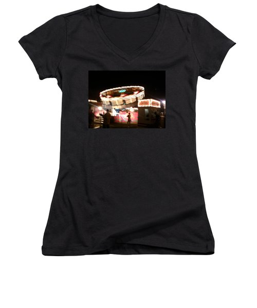 Women's V-Neck T-Shirt (Junior Cut) featuring the photograph Carnival by Clara Sue Beym