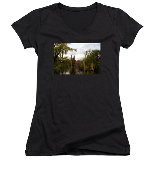 Central Park Autumn Women's V-Neck