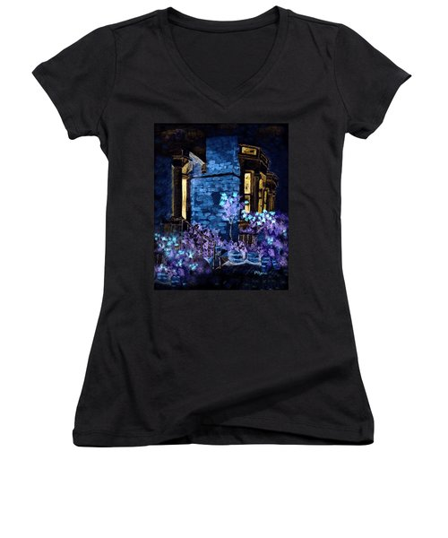 Chelsea Row At Night Women's V-Neck T-Shirt