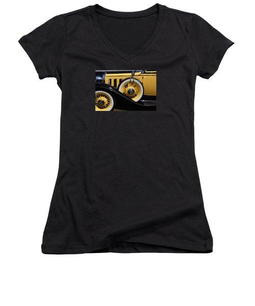 Women's V-Neck T-Shirt (Junior Cut) featuring the photograph Chevrolet 1932 by John Schneider