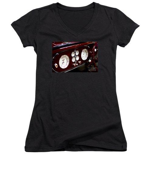 Classic Gauges Women's V-Neck T-Shirt (Junior Cut) by Jason Abando