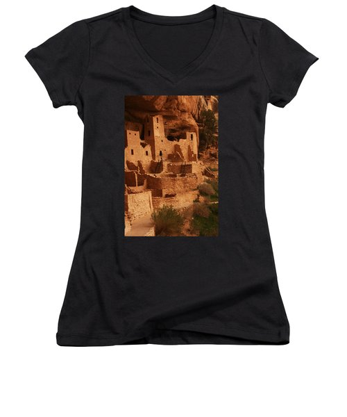 Cliff Palace Mesa Verde National Park Women's V-Neck (Athletic Fit)