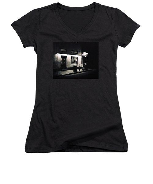 Clover Grill New Orleans Women's V-Neck T-Shirt
