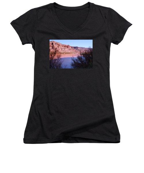 Colorado River After Rain - Utah Women's V-Neck (Athletic Fit)