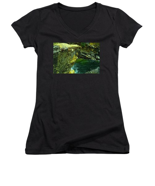 Colored Rocks  Women's V-Neck T-Shirt (Junior Cut) by Jeff Swan