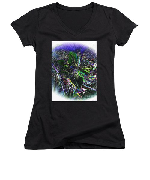 Women's V-Neck T-Shirt (Junior Cut) featuring the photograph Colorful by Donna Brown