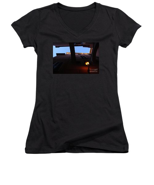 Women's V-Neck T-Shirt (Junior Cut) featuring the photograph Colours Of Light II by Andy Prendy
