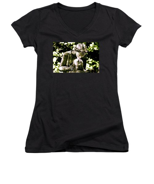 Comforted Women's V-Neck (Athletic Fit)