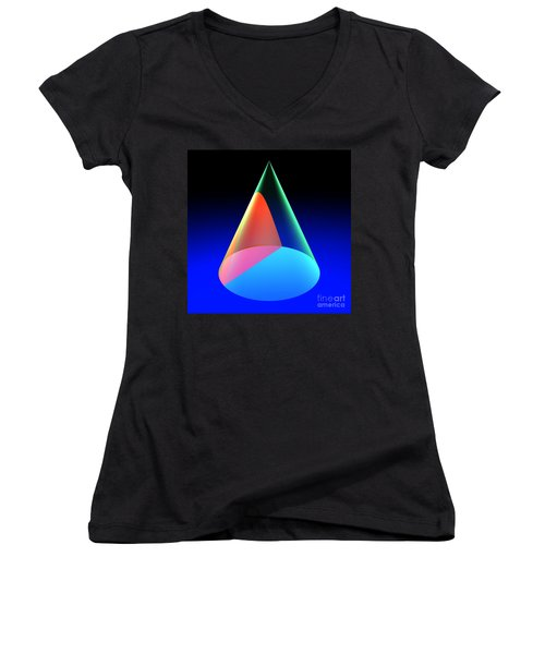 Conic Section Hyperbola 6 Women's V-Neck