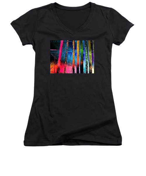 Women's V-Neck T-Shirt (Junior Cut) featuring the photograph Construct by David Pantuso