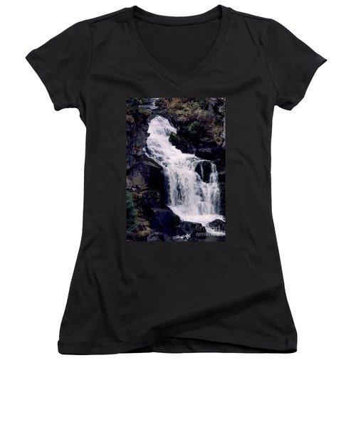 Women's V-Neck T-Shirt (Junior Cut) featuring the photograph Cool Clear Waters by Sharon Elliott