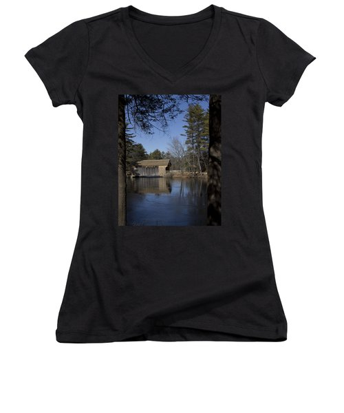Cool Winter Morning Women's V-Neck