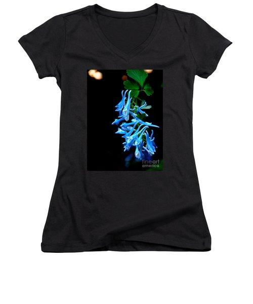 Corydalis  Women's V-Neck T-Shirt (Junior Cut) by Tanya  Searcy