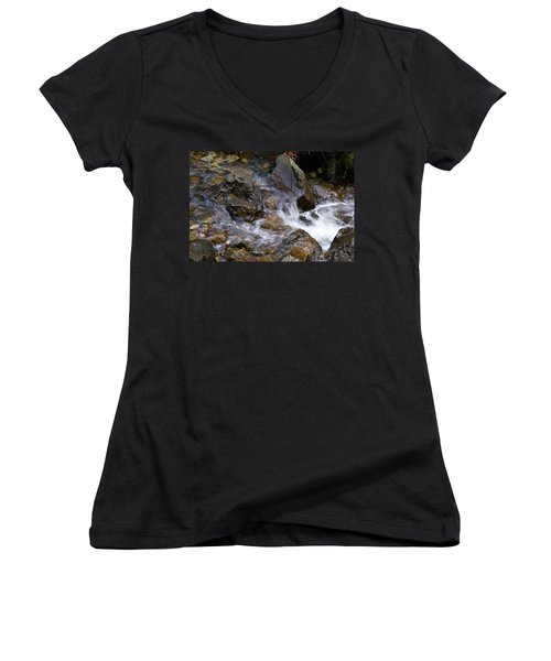 Creek Scene On Mt Tamalpais Women's V-Neck