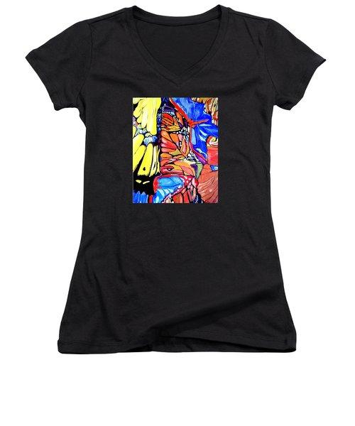Butterflies Wings  Women's V-Neck T-Shirt