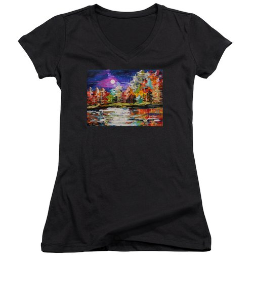 Dance On The Pond Women's V-Neck (Athletic Fit)