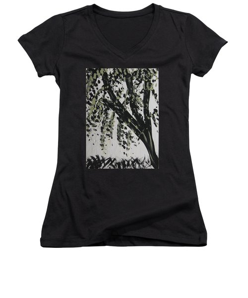 Dance With Me? Women's V-Neck T-Shirt (Junior Cut)