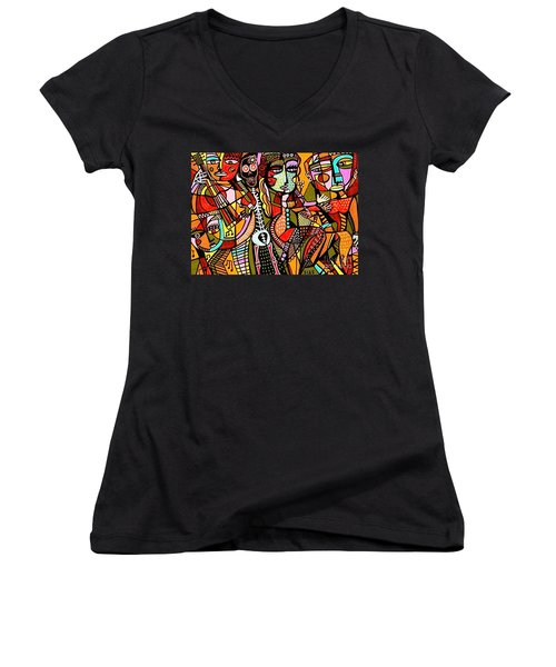 Day Of The Dead Lovers Tango Women's V-Neck T-Shirt