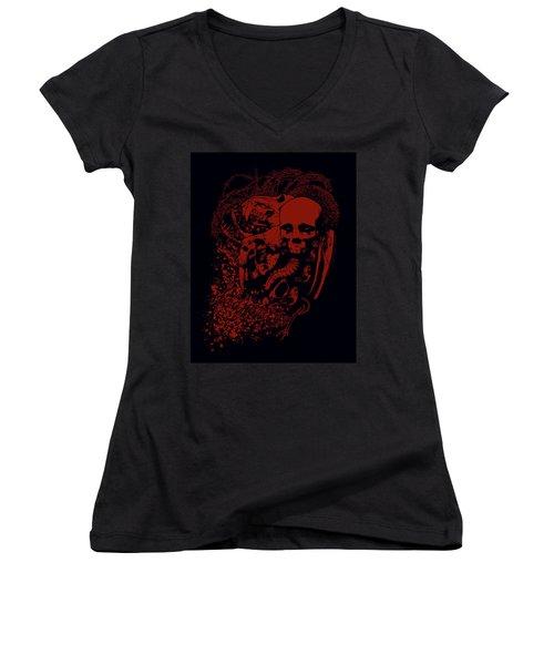 Decreation Women's V-Neck T-Shirt (Junior Cut) by Tony Koehl