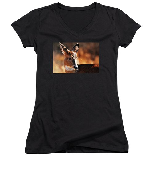 Deep In Thought Women's V-Neck