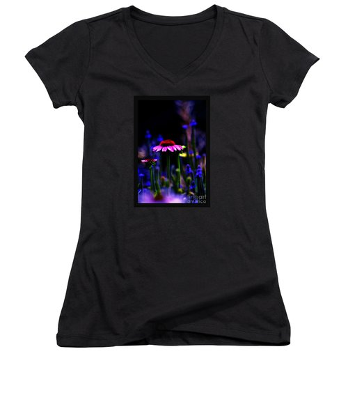 Women's V-Neck T-Shirt (Junior Cut) featuring the photograph Divine Spirit Of Mother Earth by Susanne Still