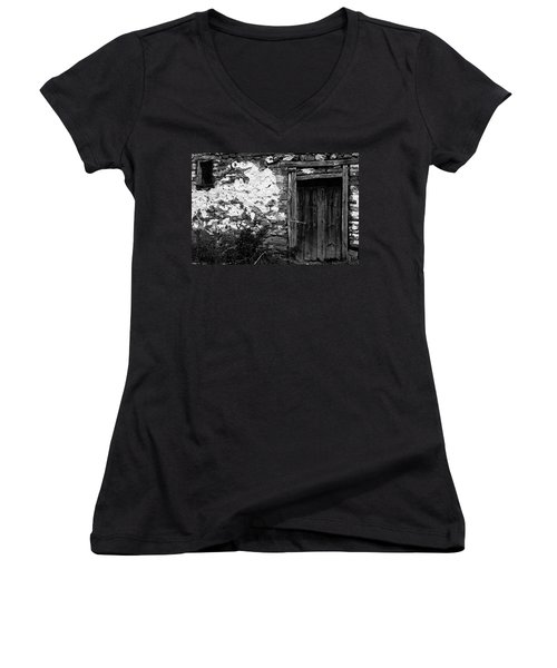 Door  Window And The Wall  Women's V-Neck T-Shirt