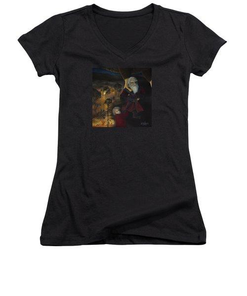 Dori  Women's V-Neck T-Shirt (Junior Cut) by Joshua Martin
