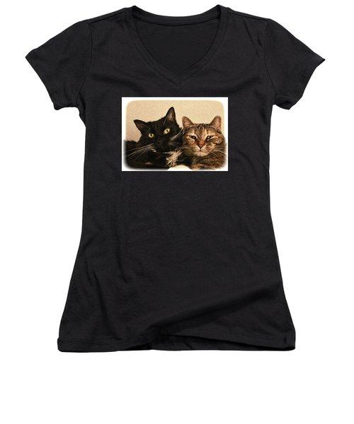 Double Trouble 2 Women's V-Neck T-Shirt