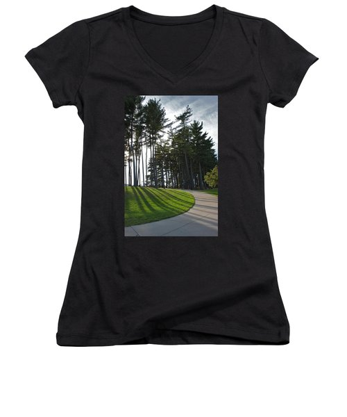 Women's V-Neck T-Shirt (Junior Cut) featuring the photograph Dramatic by Joseph Yarbrough