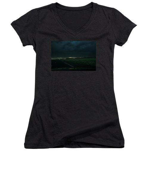 Driving Rain Number One Women's V-Neck T-Shirt