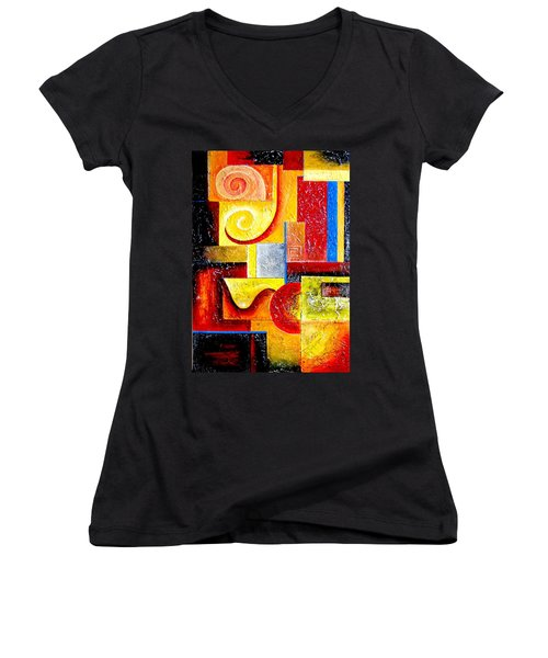 Duospiral Women's V-Neck (Athletic Fit)