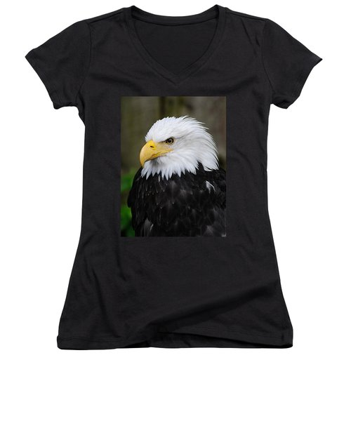 Eagle In Ketchikan Alaska 1371 Women's V-Neck (Athletic Fit)