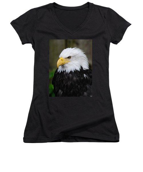 Eagle In Ketchikan Alaska 1371 Women's V-Neck