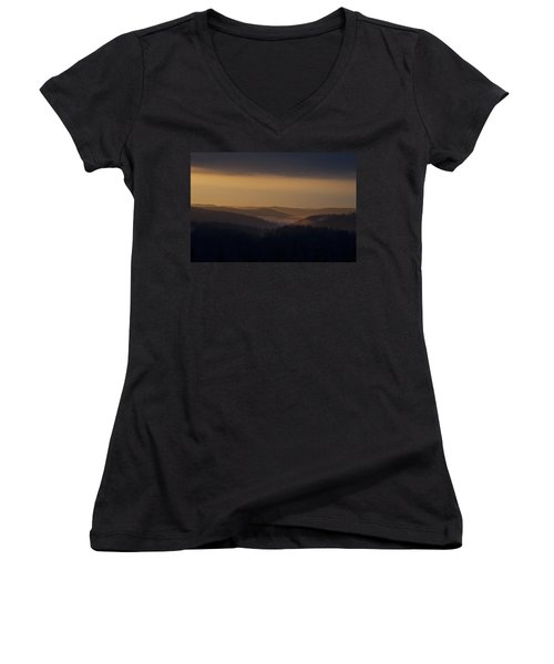 Early Morning Sunrise Women's V-Neck (Athletic Fit)