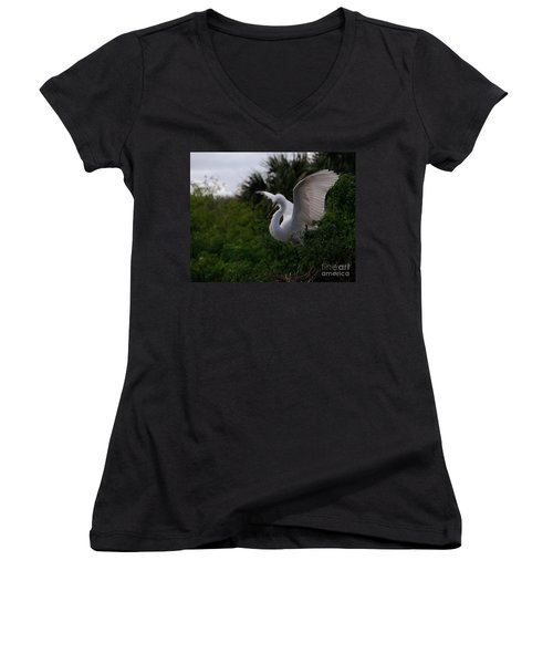 Egret Wings Women's V-Neck