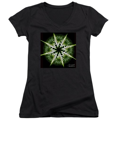 Emerald Tales Women's V-Neck (Athletic Fit)