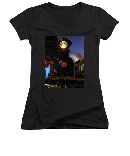 Engine No. 132 Women's V-Neck T-Shirt (Junior Cut) by Keith Stokes