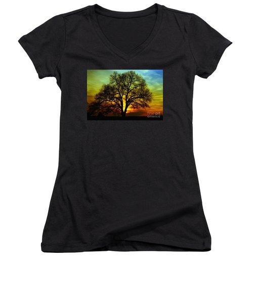 Evening Palette Women's V-Neck T-Shirt