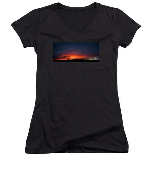 Expansive Sunset Women's V-Neck